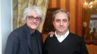 Il presidente e il vicepresidente dell'associazione Taormina Jazz, Nino Scandurra e Enrico Di Maggio.
