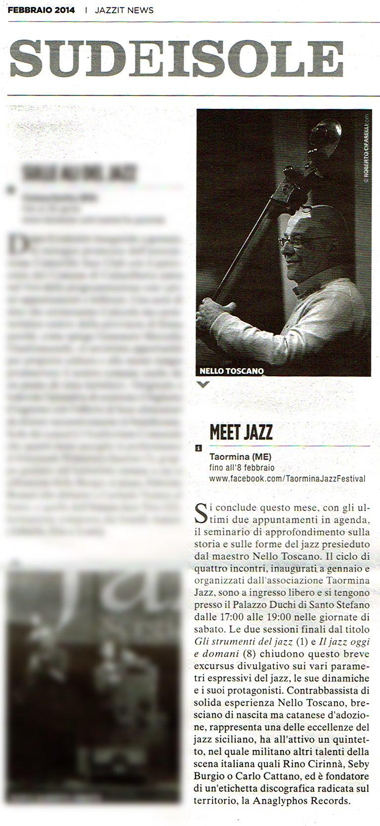 Jazzit News, Febbraio 2014
